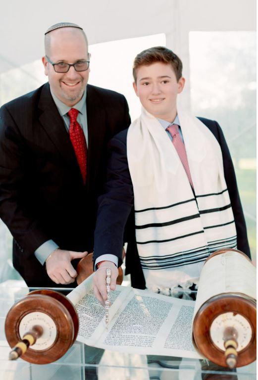 Bar Mitzvah Rabbi with Torah